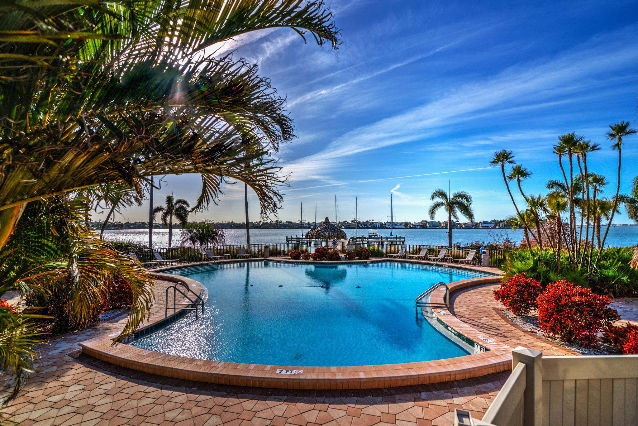 Waterfront pool St Pete Fl